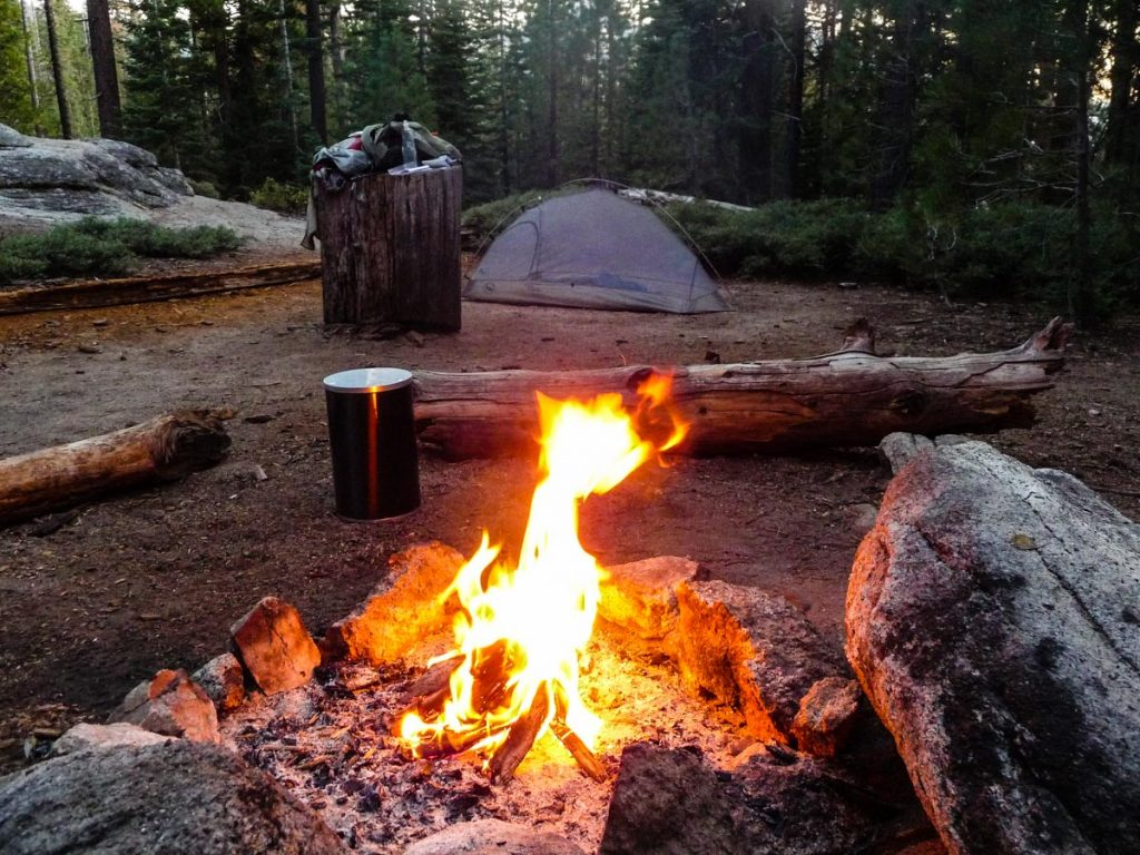 Campsite at Clouds Rest Trail Junction