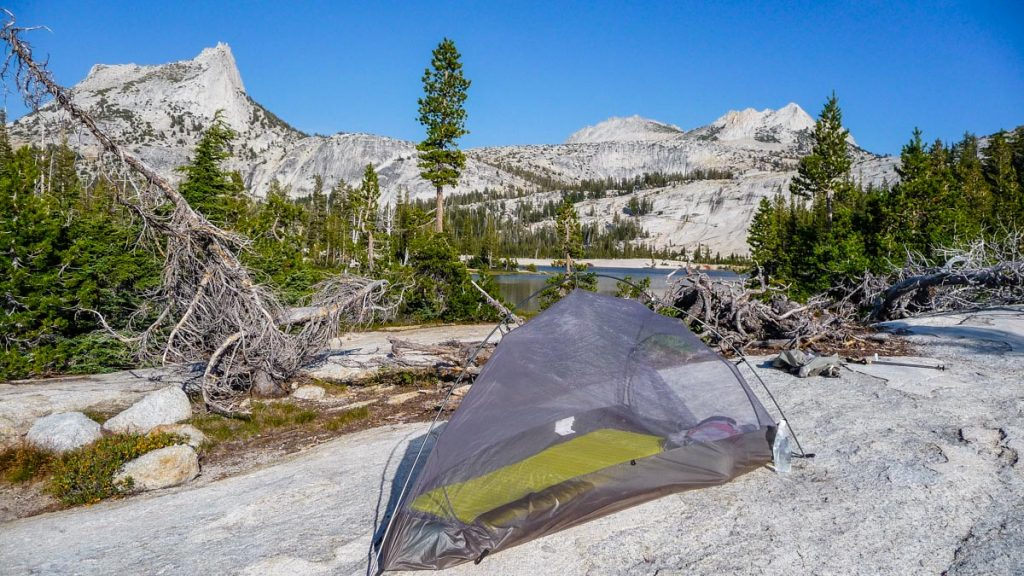 Camping by Lower Cathedral Lake