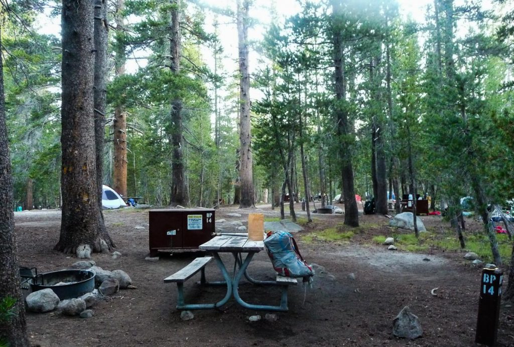 Getting ready to leave Tuolumne Campground