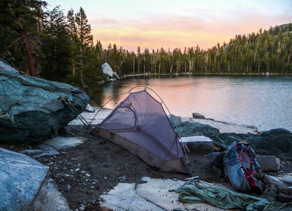 Camping by Rosalie Lake