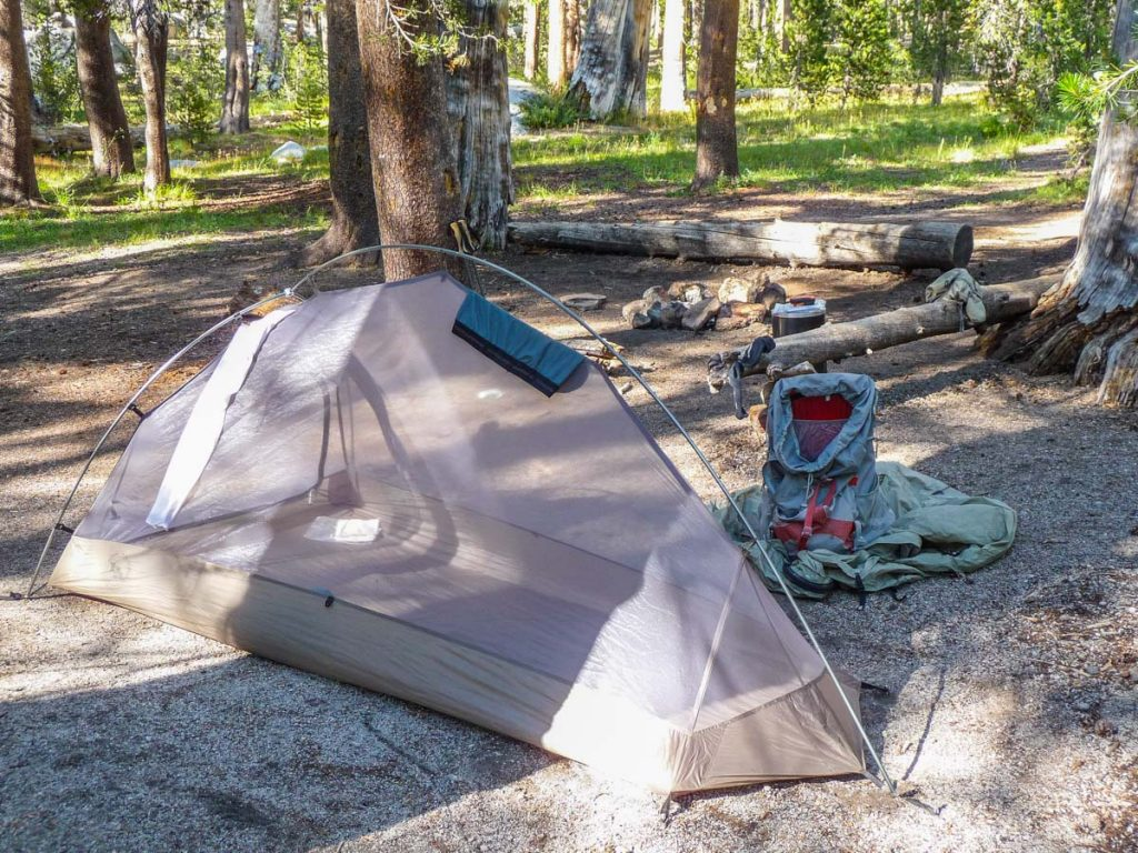 Camping by Deer Creek on the John Muir Trail