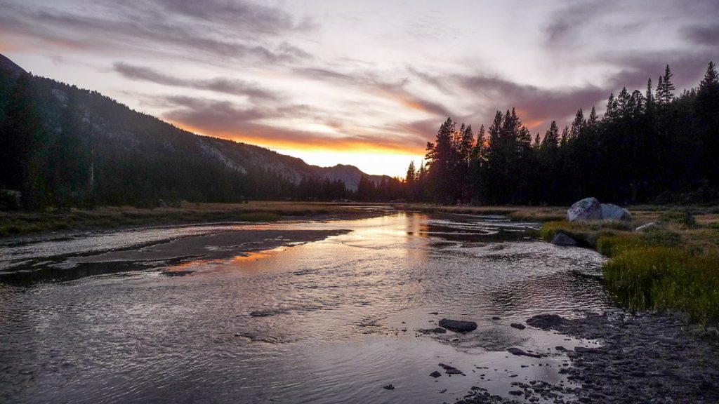 Sunset over Evolution Valley