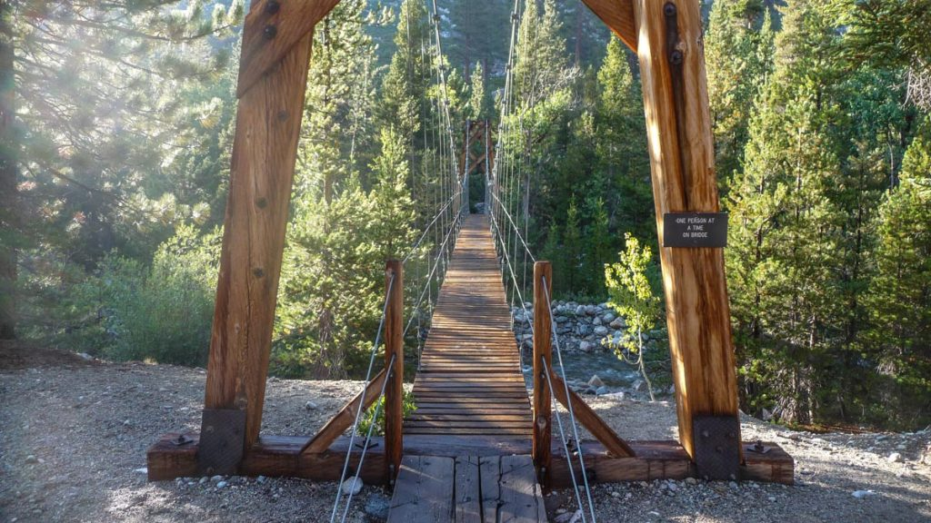 Woods Creek suspension bridge