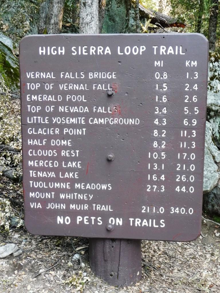 Start of John Muir Trail