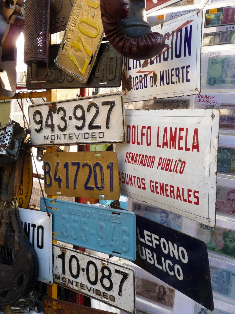 Old License Plates and Signs