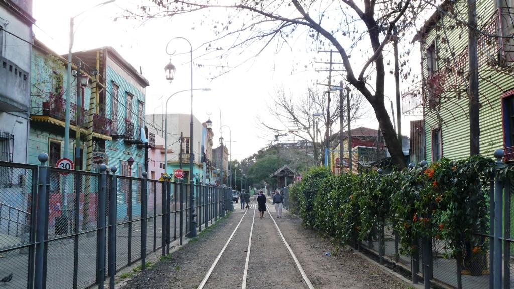 Old tram rails