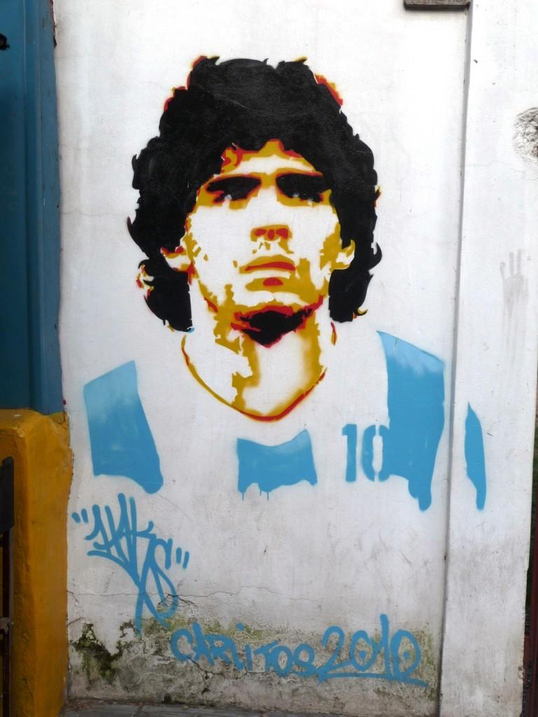 Maradona stencil art