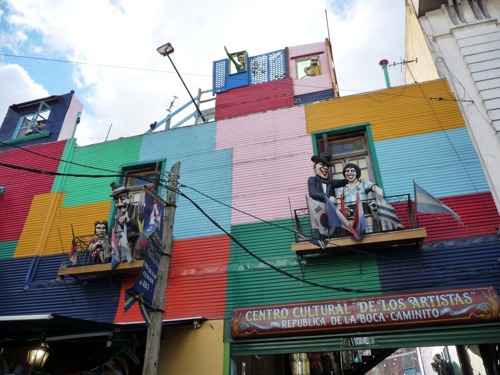 Celebrities on the balconies