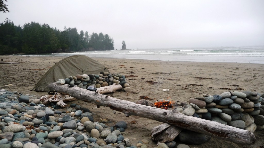 Camping by Ozette River