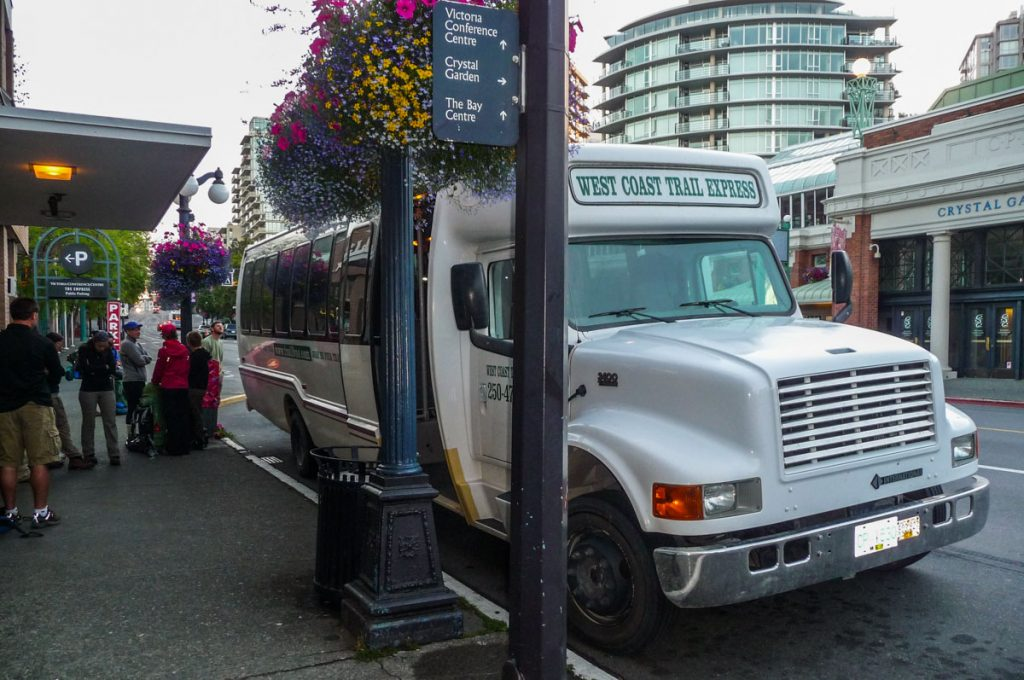West Coast Trail Express bus