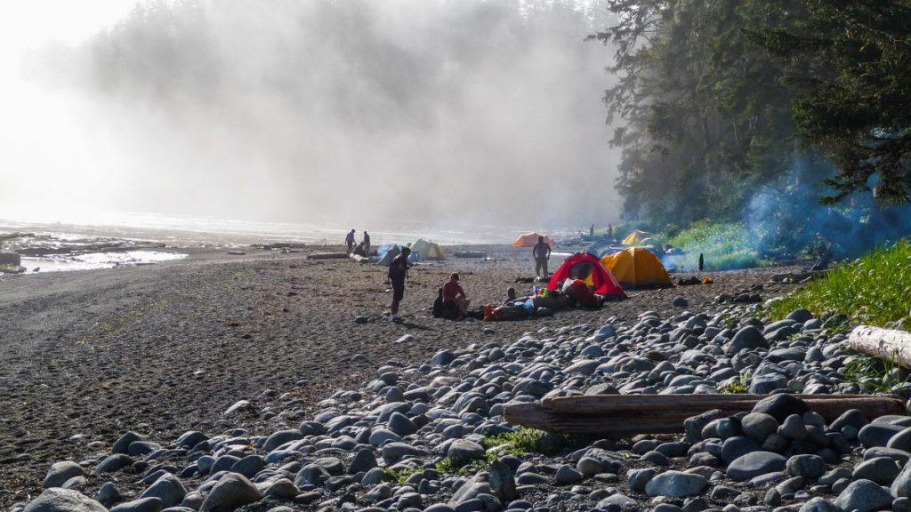 Michigan Creek campsite, West Coast Trail