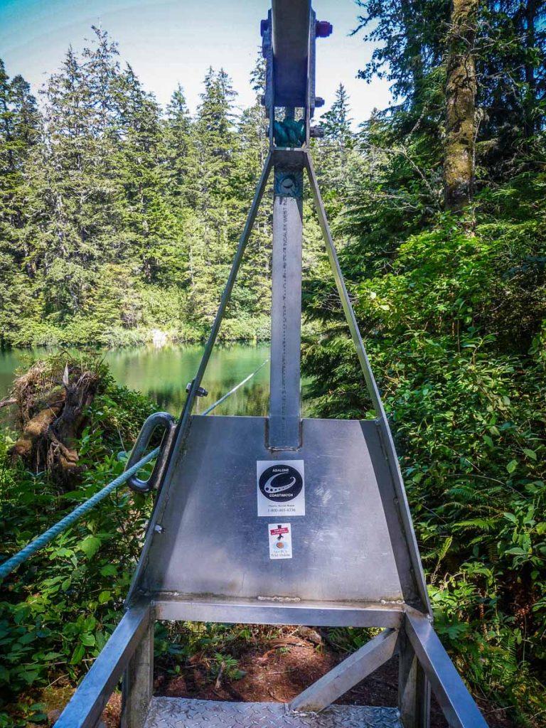 Klanawa River cable car, West Coast Trail