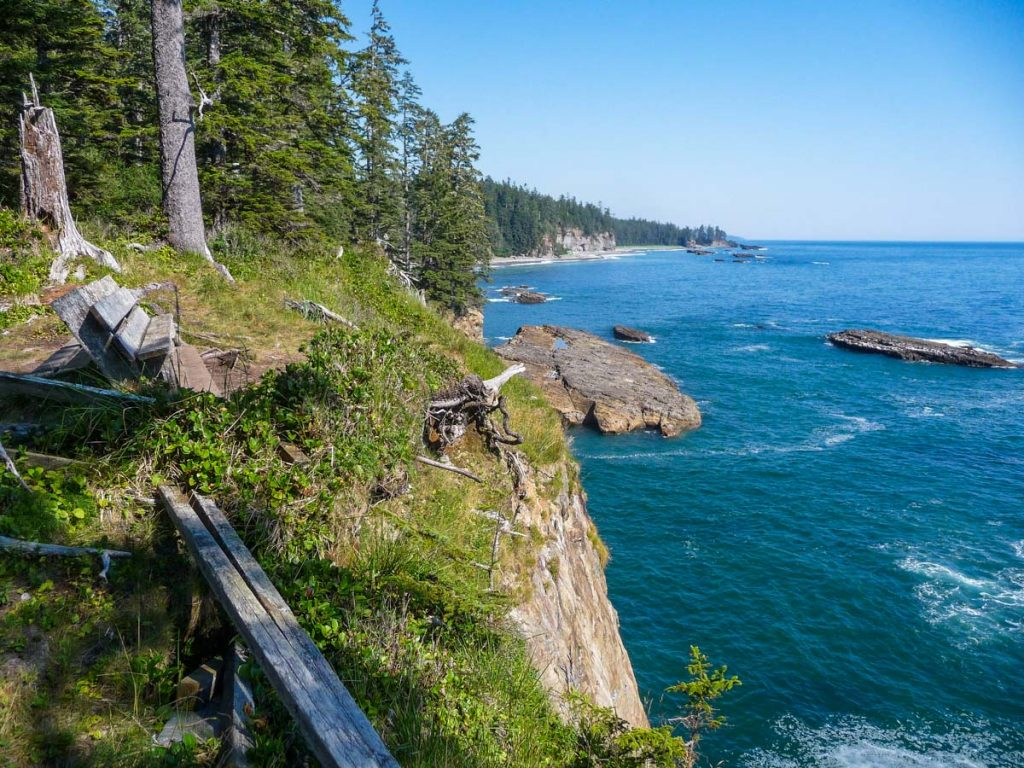 Bench with nice views, West Coast Trail