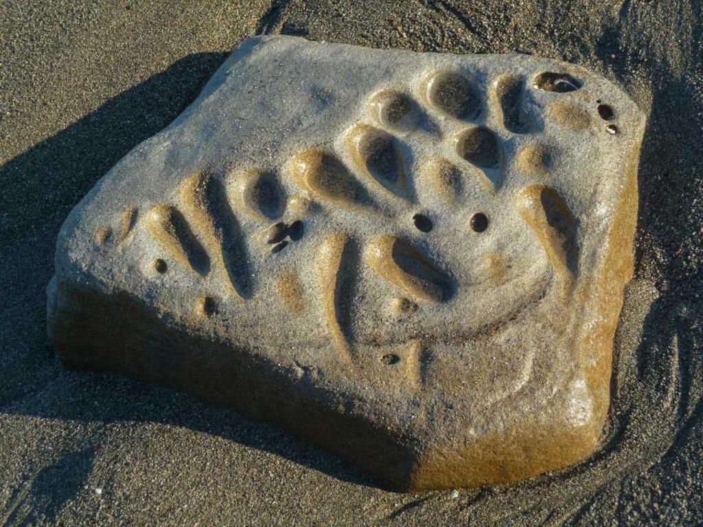 Strange rock on the beach, West Coast Trail