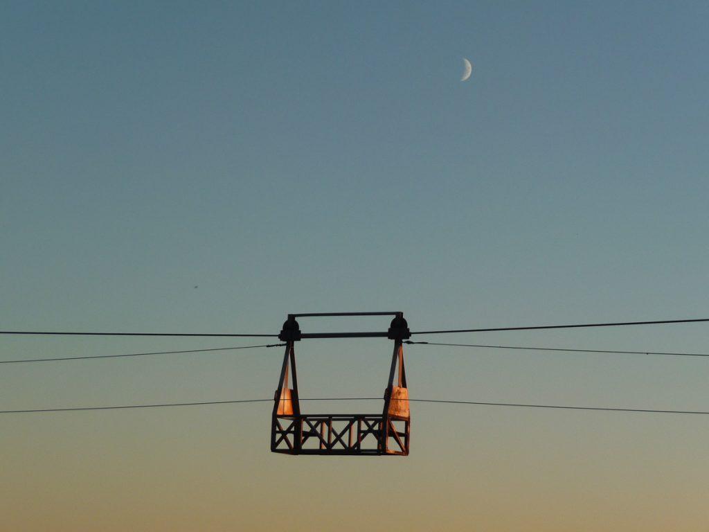 Carmanah Creek cable car, West Coast Trail