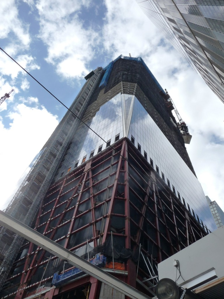 One of the new World Trade Center towers
