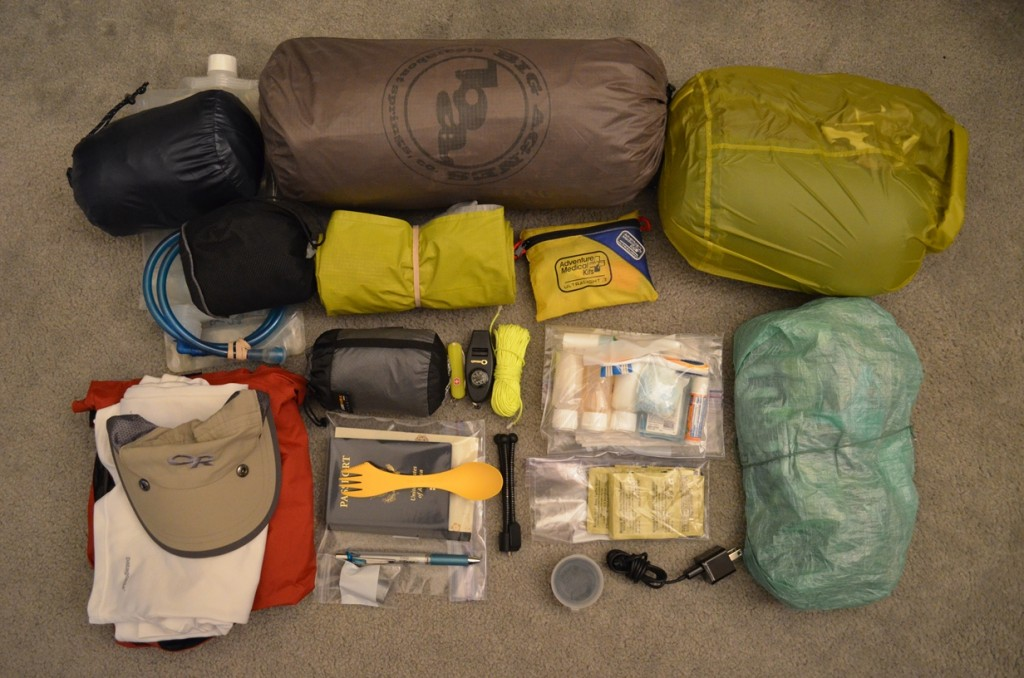 Backpack contents for the Waitukubuli National Trail