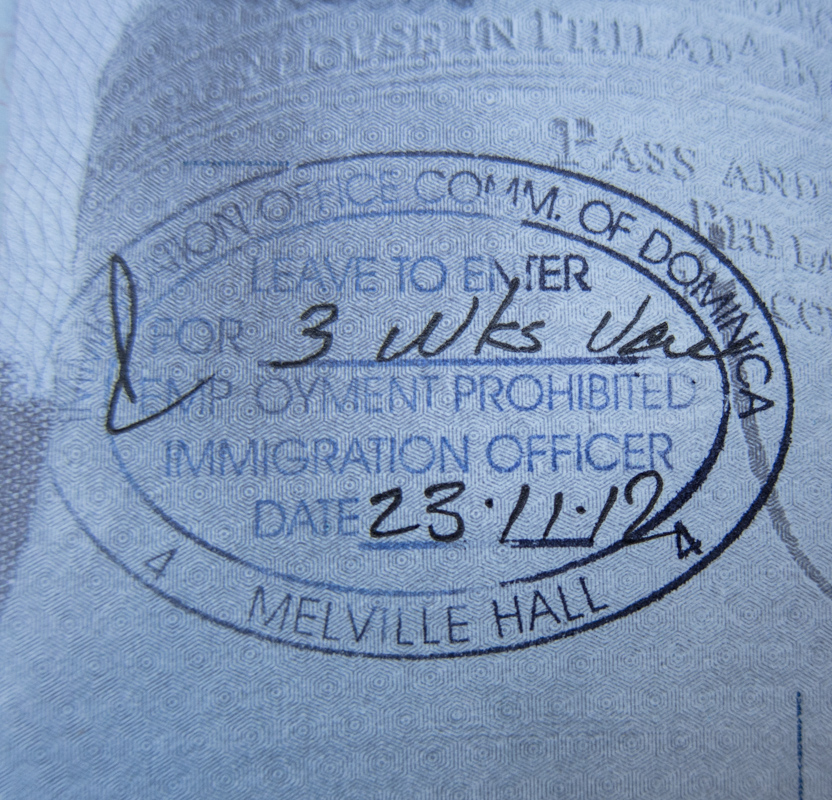 Dominica Passport Stamp