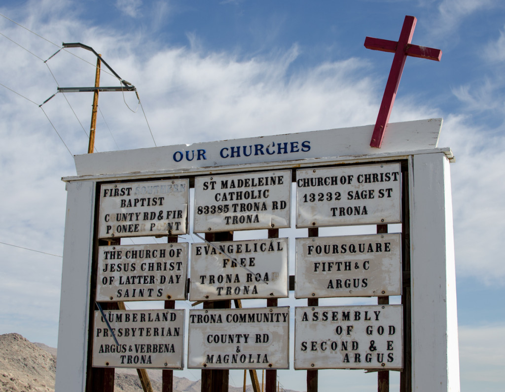 Nine churches for one little town