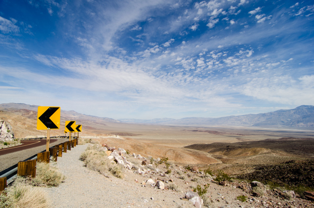 The road to Death Valley National Park