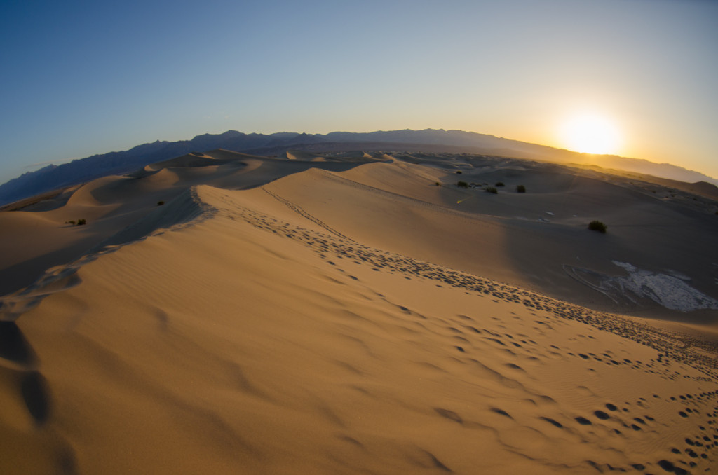 Sunrise at Mesquite Flat Sand Dunes, Death Valley