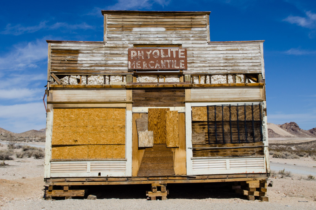 Abandoned building in Rhyolite, Nevada