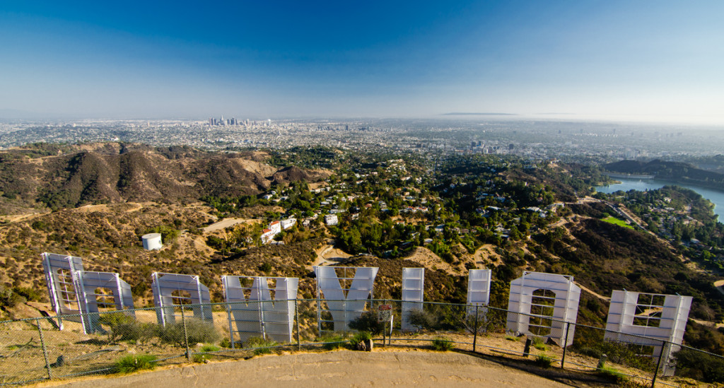 Overlooking Los Angeles from the Hollywood Sign