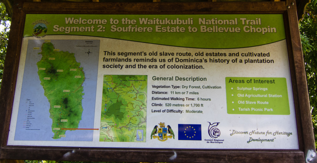 Start of Segment 2 of the Waitukubuli National Trail