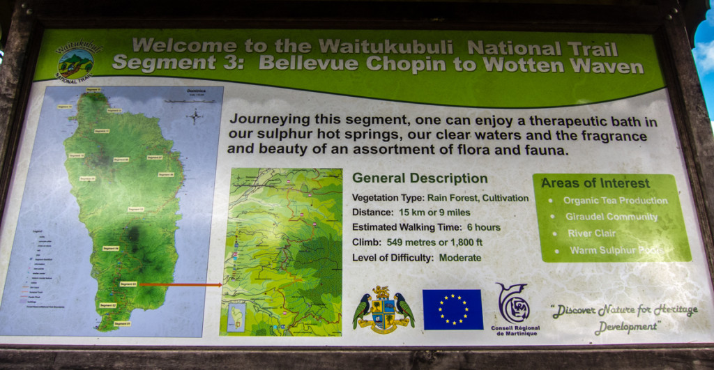 Start of Segment 3 of the Waitukubuli National Trail