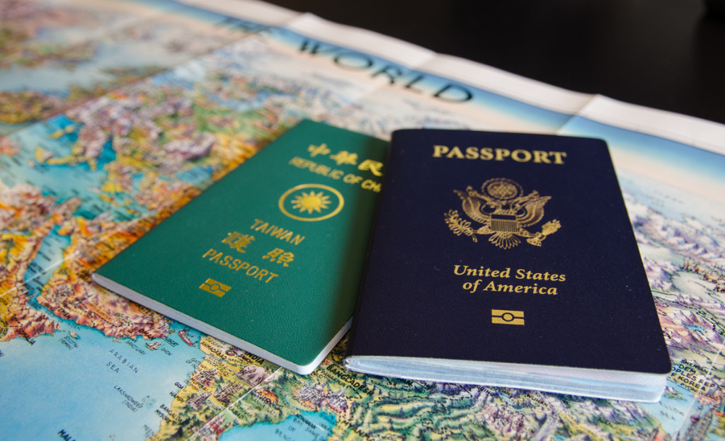 Passports and Map