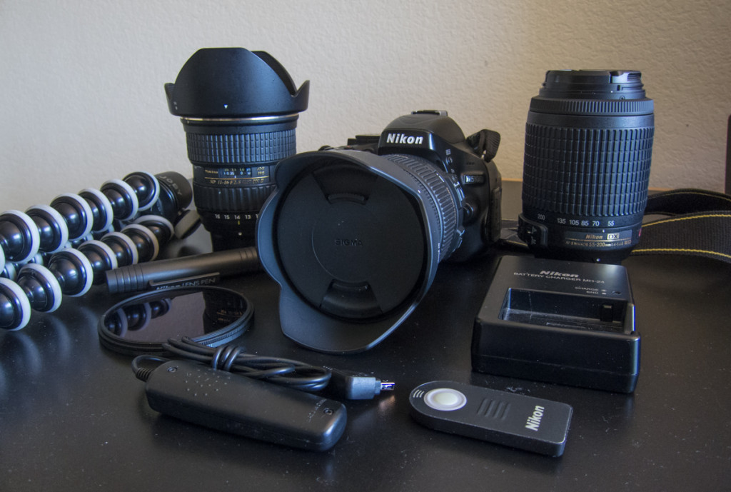 DSLR equipment for round the world trip