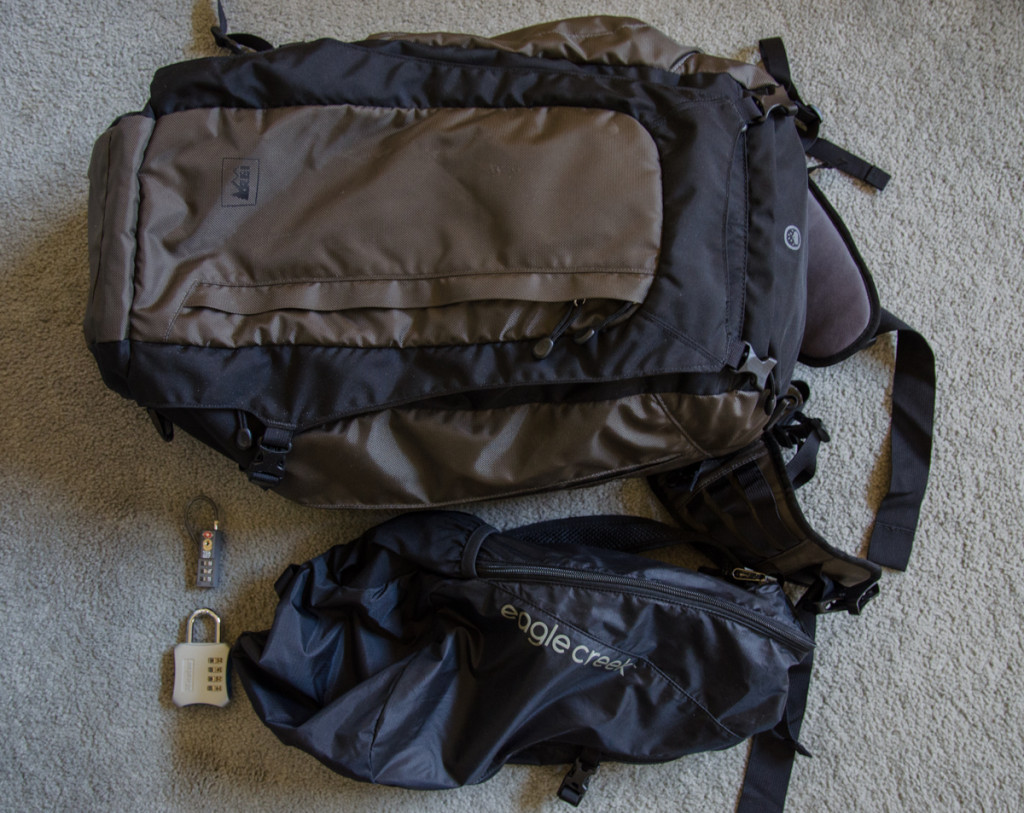 REI Vagabond 40 and Eagle Creek 2 in 1 Sling/Backpack