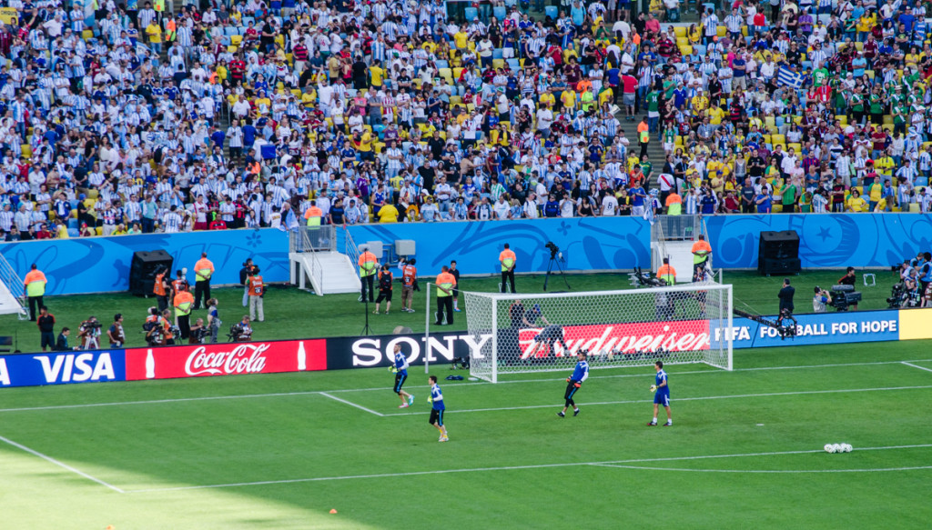 Argentina goalkeepers during warmups
