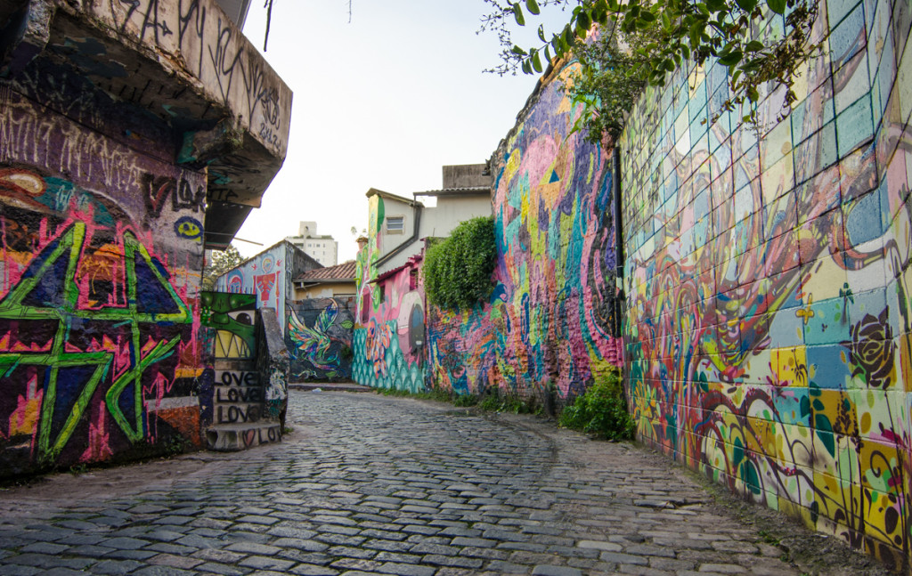 Beco do Batman, Vila Madalena, Sao Paulo