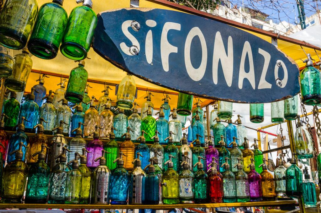 Sifones de soda, Plaza Dorrego, San Telmo
