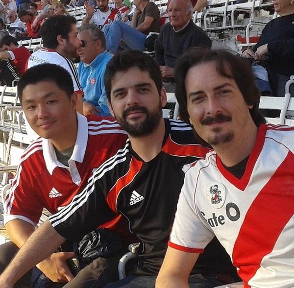 Me with Alejandro and Sebastian, River Plate's Estadio Monumental