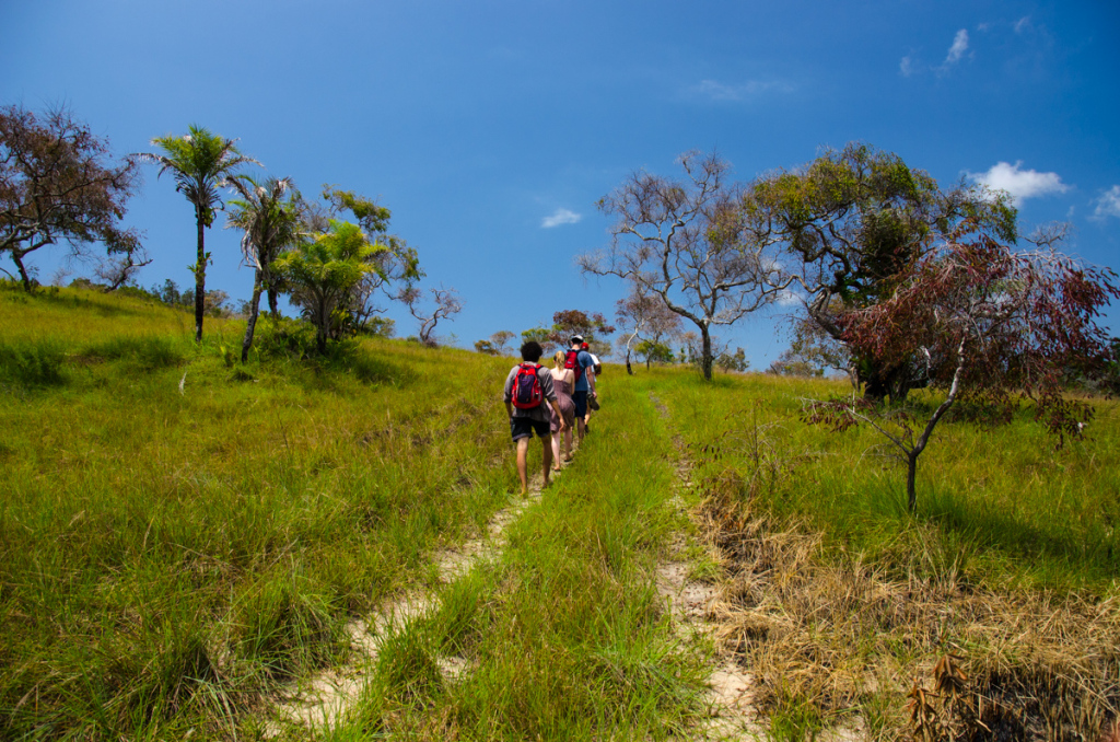 Hiking in Boipeba, Brazil