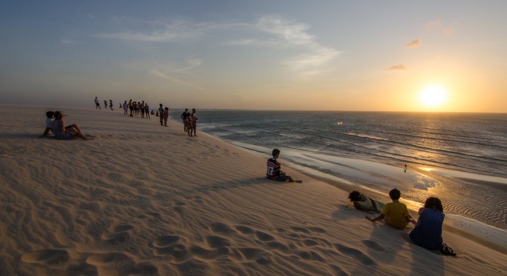 Sunset from sand dune, Jericoacoara