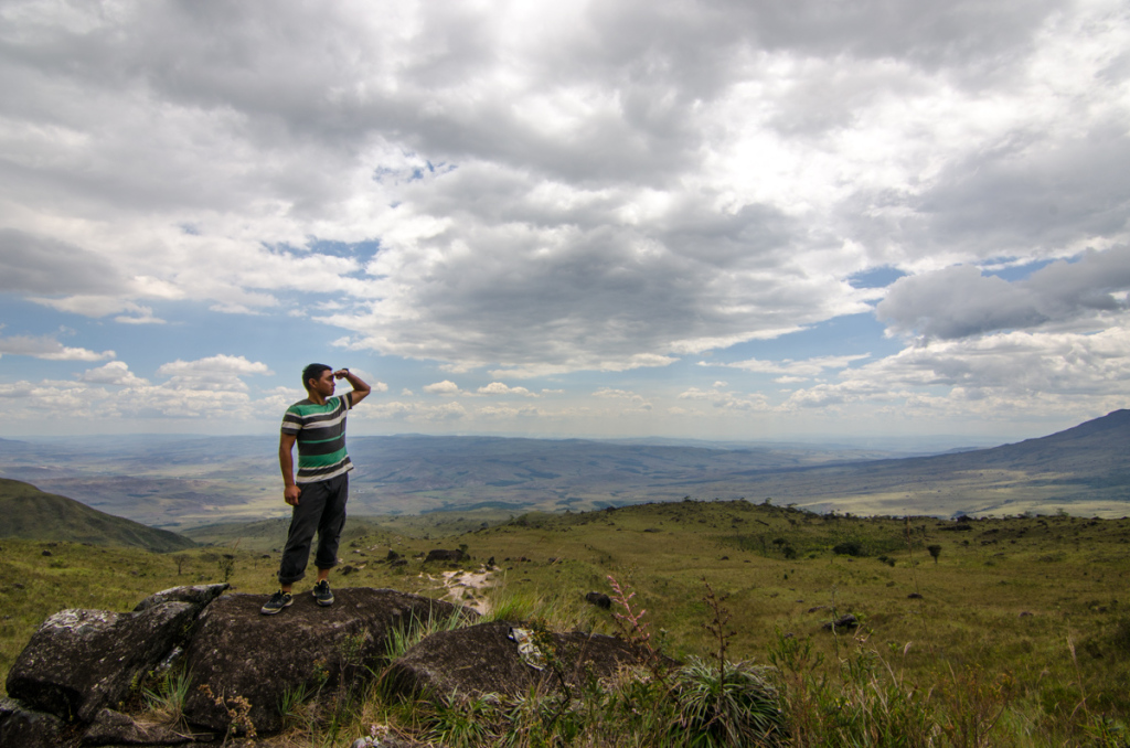 Appreating the amazing views on the way to Roraima