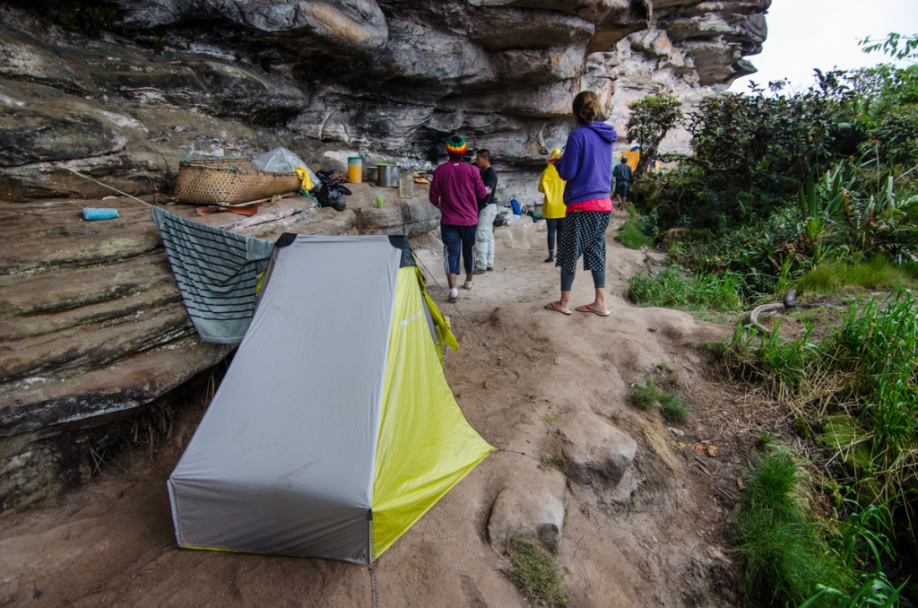 Camping at the top of Mount Roraima