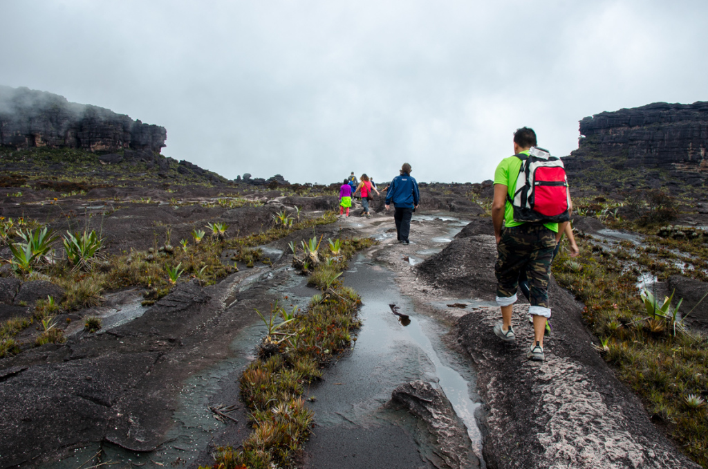 Hiking on top of Mount Roraima