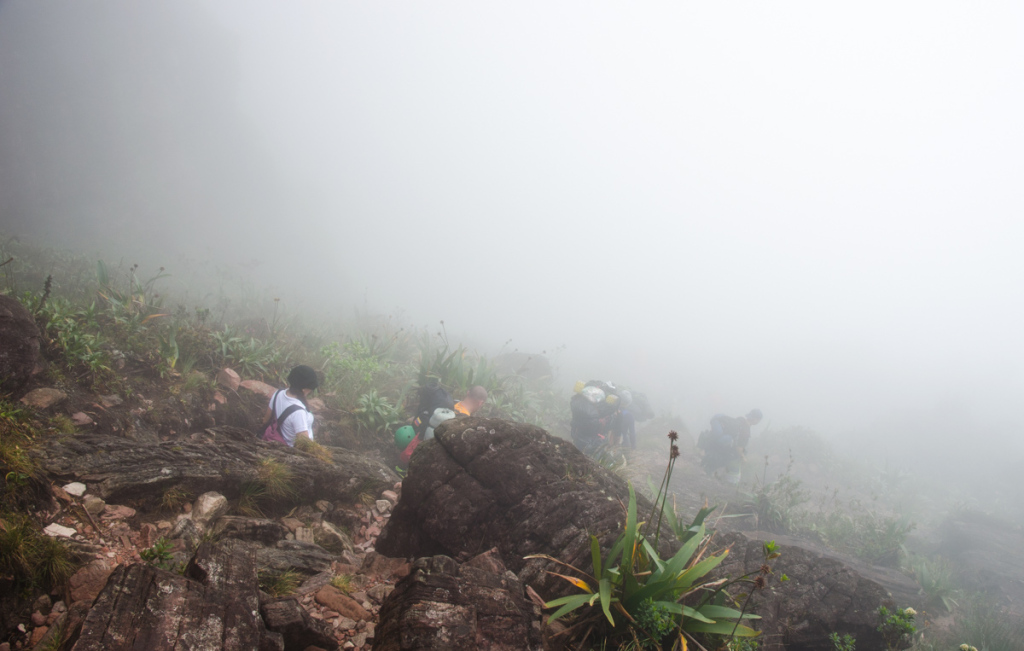 Descending from Mount Roraima