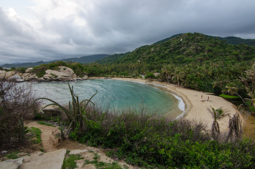 Views from peninsula hammocks in Cabo San Juan, Tayrona National Park