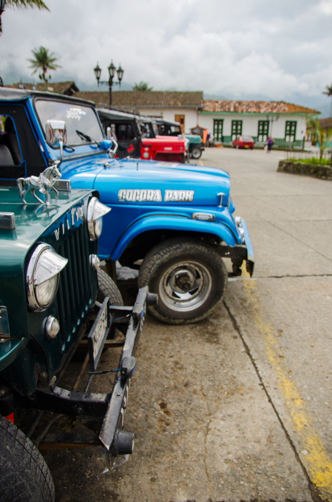 Jeeps going from Salento to Valle de Cocora