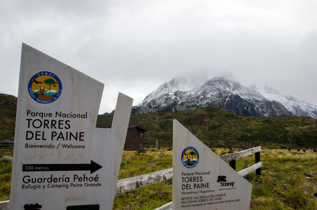 Trailhead at Refugio Paine Grande