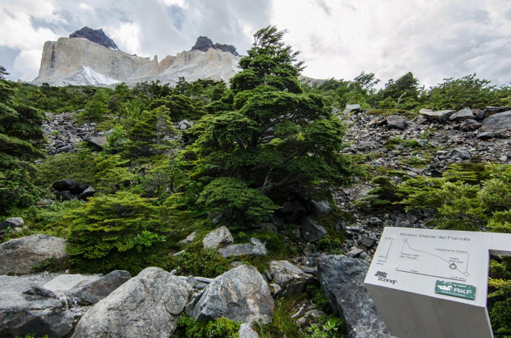 Mirador Glaciar del Frances, Parque Nacional Torres del Paine