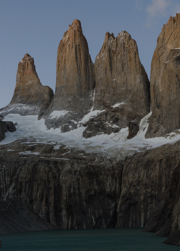 Torres del Paine before sunrise
