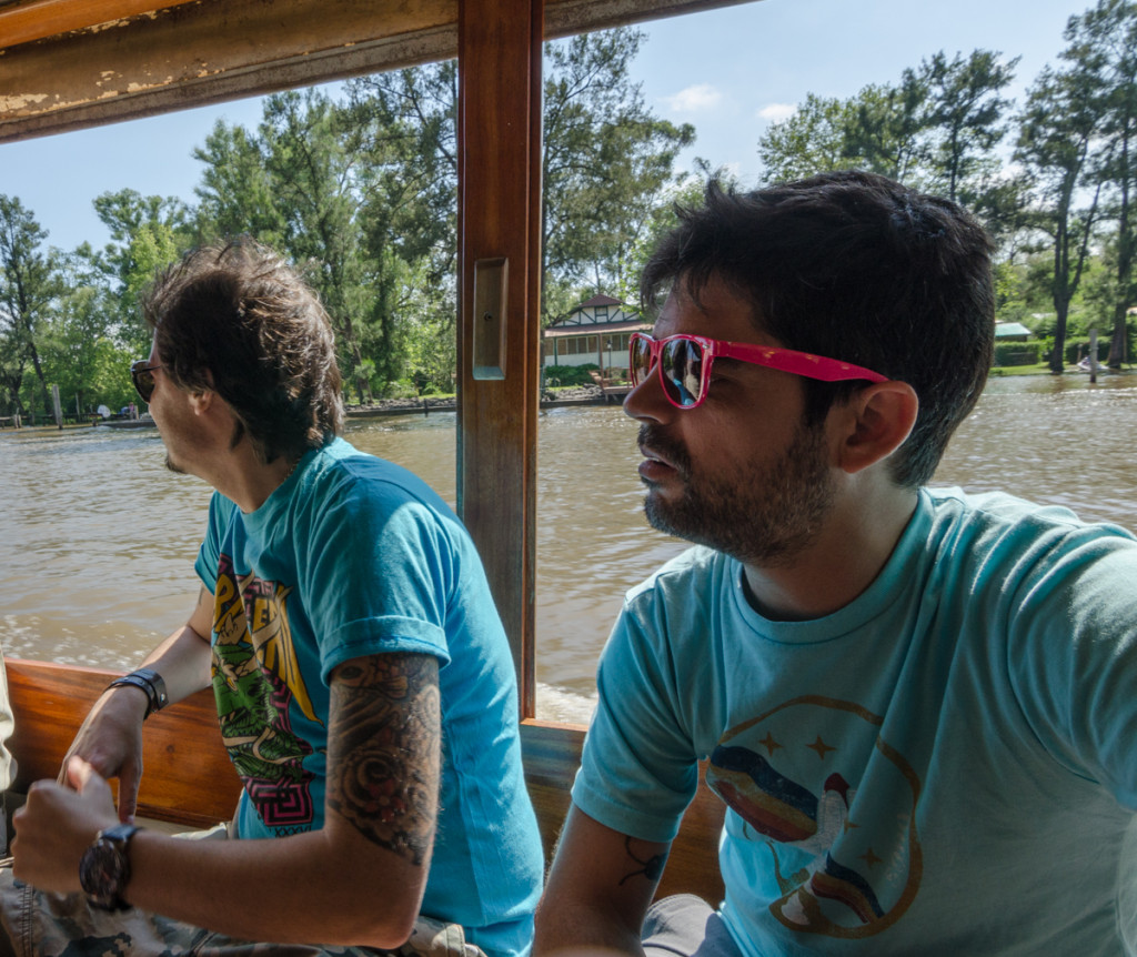 Riding the taxi boat in Tigre