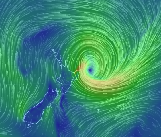 Cyclone Pam passing near New Zealand