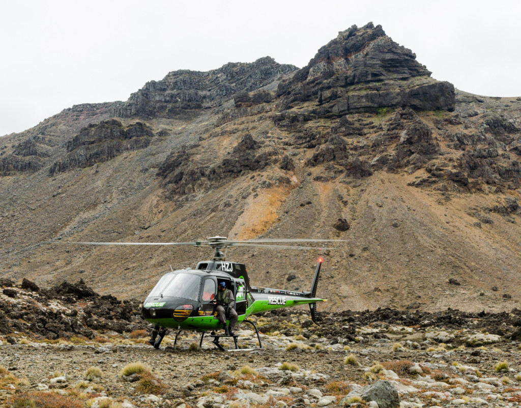 Rescue helicopter, Tongariro Northern Circuit